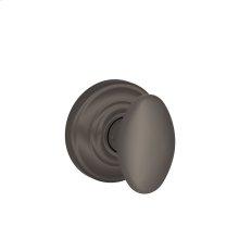 Siena Knob with Andover trim Non-turning Lock - Oil Rubbed Bronze