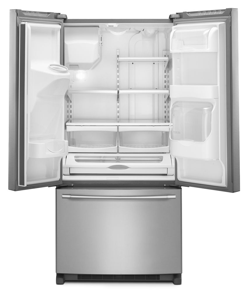 Merveilleux 33  Inch Wide French Door Refrigerator With Beverage Chiller Compartment    22 Cu. Ft
