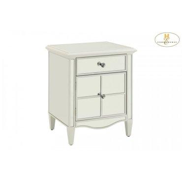 Mirrored Cabinet, White