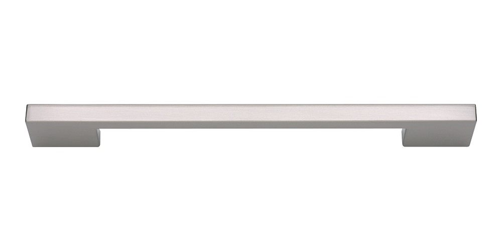 Thin Square Pull 7 9/16 Inch (c-c) - Brushed Nickel