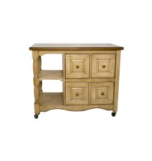 Sunset Trading Brook 4 Drawer Kitchen Cart - Sunset Trading