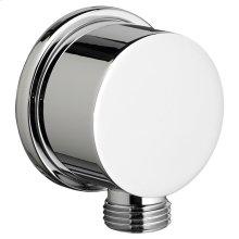 Round Wall Supply - Polished Chrome
