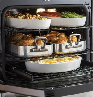 "30"" Free-Standing Dual Fuel Convection Self-Cleaning Range with Warming Drawer"