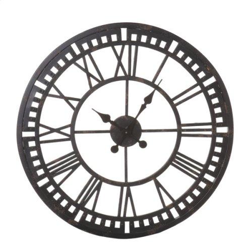 Distressed Black Roman Numeral Clock