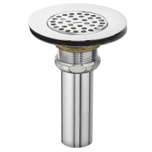 Commercial Perforated Grid Drain - Polished Chrome