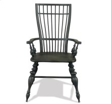 Cassidy Windsor Arm Chair Charred Oak finish