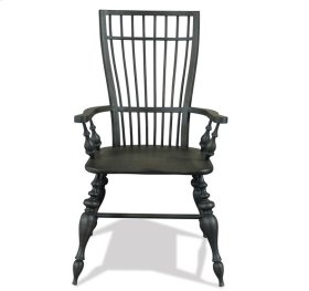 Cassidy Windsor Arm Chair Charred Oak finish