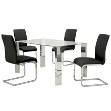 Frankfurt/Maxim 5pc Dining Set, Black