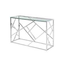 Modern Silver/glass Console Table, Kd
