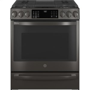 "GE Profile30"" Smart Slide-In Front-Control Gas Range with No Preheat Air Fry"