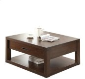 Riata Square Coffee Table Warm Walnut finish