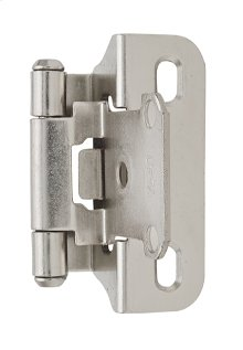 Self-closing, Partial Wrap 1/4in(6mm) Overlay Hinge