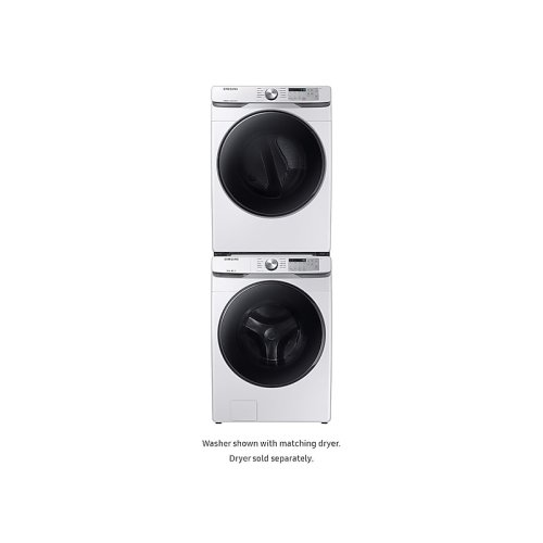 WF6100 4.5 cu. ft. Front Load Washer with Steam in White