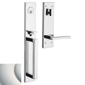 Polished Nickel with Lifetime Finish Minneapolis Full Escutcheon Handleset