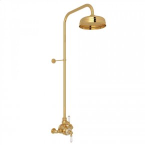 English Gold EDWARDIAN U.KIT2L THERMOSTATIC SHOWER PACKAGE with Metal Lever