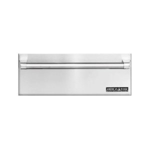 """27"""" Stainless Steel Warming Drawer With Classic Handle"""