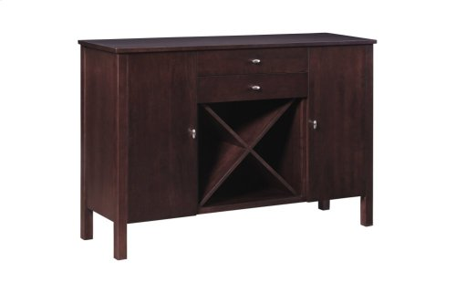 Sideboard W/2 Drawers, Wine Rack, Wood Sides & Doors