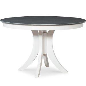 """JOHN THOMAS FURNITURESiena 48"""" Pedestal Table w/ 30"""" Base Heather Gray / White"""