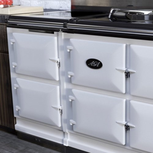 White AGA Hotcupboards with Induction Top