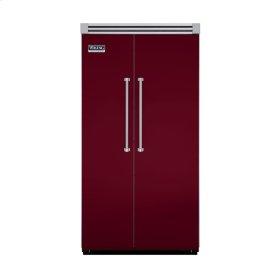 """Burgundy 42"""" Side-by-Side Refrigerator/Freezer - VISB (Integrated Installation)"""