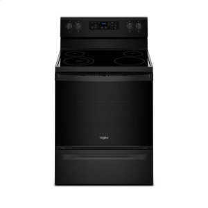 WhirlpoolWhirlpool® 5.3 cu. ft. Freestanding Electric Range with Adjustable Self-Cleaning - Black