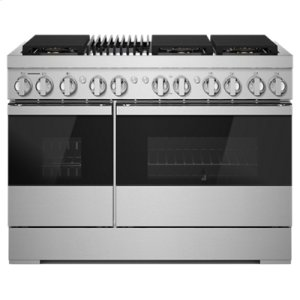 "Jenn-AirNOIR 48"" Dual-Fuel Professional Range with Gas Grill"