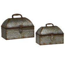 Galvanized Storage Chest (2 pc. set)