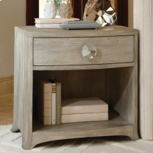 Bow Front 1-Drawer Chest-Grey