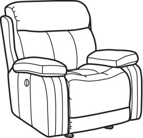 Danika Fabric Power Gliding Recliner