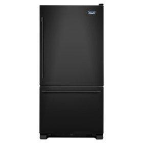 Maytag® 33-Inch Wide Bottom Mount Refrigerator - 22 Cu. Ft. - Black-on-Black