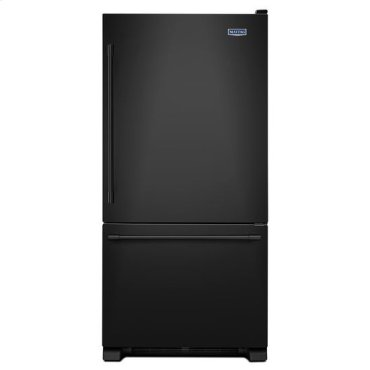 Maytag® 33-Inch Wide Bottom Mount Refrigerator - 22 Cu. Ft. - Black-on-Black
