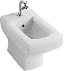 Floor standing bidet (over-the-rim style) - White Alpin CeramicPlus