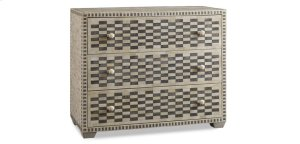 Tangier Three Drawer Checkered Accent Chest