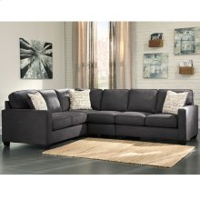 Signature Design by Ashley Alenya 3-Piece Left Side Facing Sofa Sectional in Charcoal Microfiber [FSD-1669SEC-3LAFS-CH-GG]