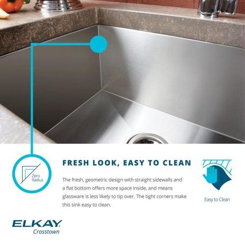 """Elkay Crosstown 16 Gauge Stainless Steel, 30-3/4"""" x 18-1/2"""" x 10"""" Equal Double Bowl Undermount Sink"""
