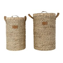 Water Hyacinth & Seagrass Clarence Hampers - Set of 2