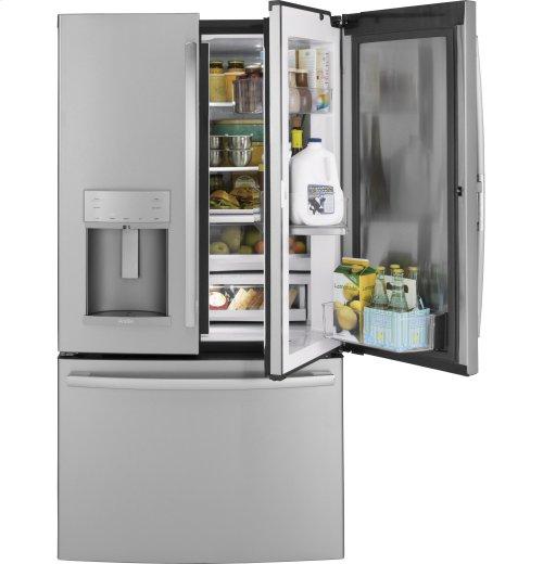 GE Profile Series 22.2 Cu. Ft. Counter-Depth French-Door Refrigerator with Door In Door and Hands-Free AutoFill