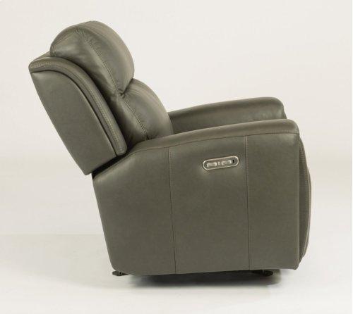 Jasper Leather Power Gliding Recliner with Power Headrest