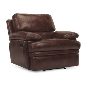 FLEXSTEELHOMEDylan Leather Recliner without Chaise Footrest
