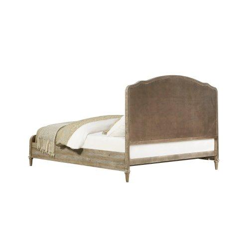 Emerald Home Interlude Queen Upholstered Bed Kit White Linen B560-11-k