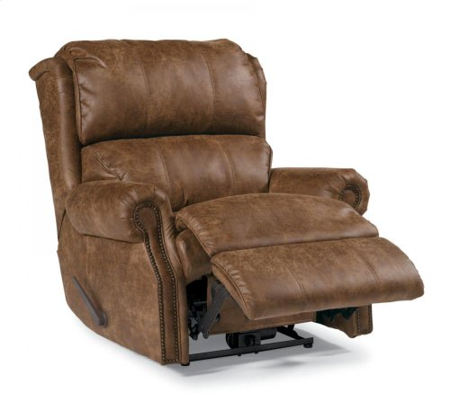 Comfort Zone Leather or Fabric Rocking Recliner