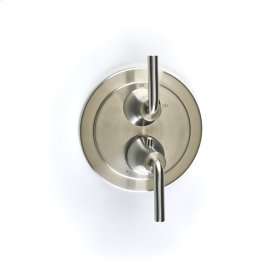 Dual Control Thermostatic with Volume Control Valve Trim River (series 17) Satin Nickel