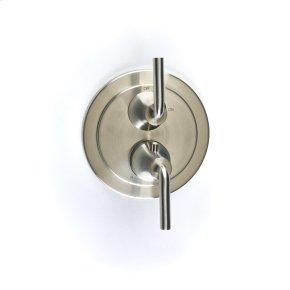 Dual Control Thermostatic with Volume Control Valve Trim Taos (series 17) Satin Nickel