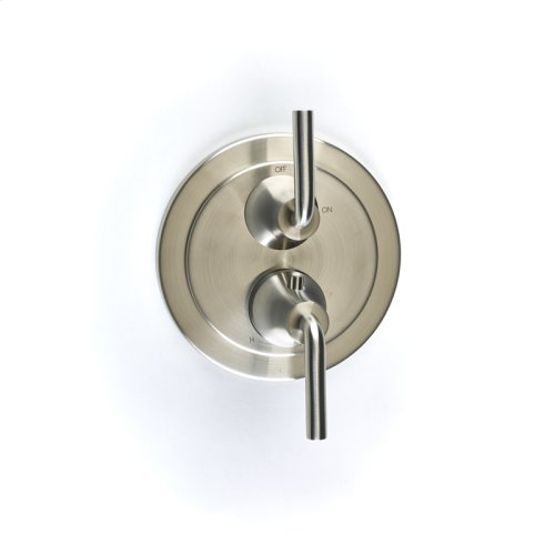 Dual Control Thermostatic With Volume Control Valve Trim Taos Series 17 Satin Nickel