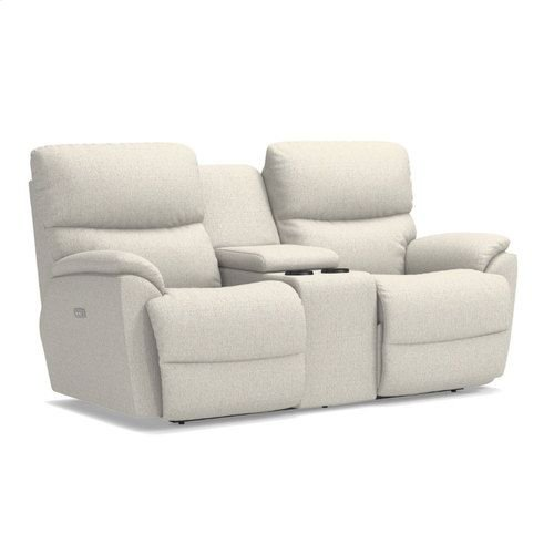 Trouper Power Reclining Loveseat w/ Console