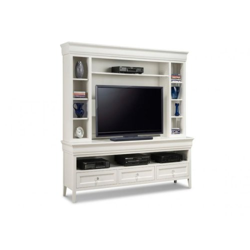 "Monticello 74"" HDTV Cabinet with Hutch"