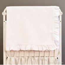 Bebe Pique Crib Blanket White