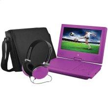 """9"""" Portable DVD Player Bundles (Purple)"""