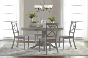 Everyday Classics Round To Oval Dining Table Base - Dove Grey