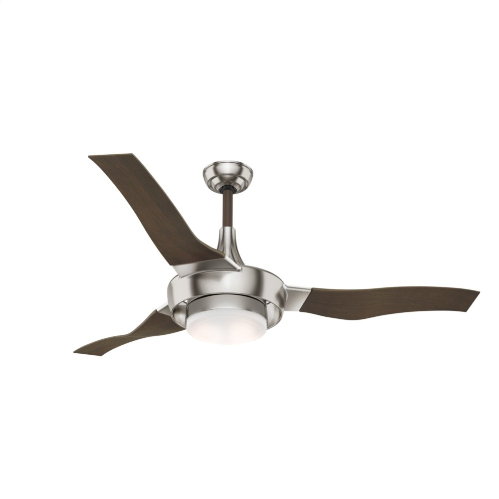 Perseus Outdoor with LED Light 64 inch Ceiling Fan  BRUSHED NICKEL